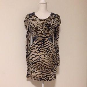 Madison Marcus Animal Print/Sequin Silk Dress!!
